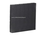 Palissadeband vierkant 8x50x50 cm Antraciet