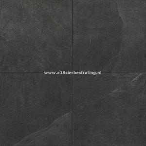 Keramische tegel Black Slate 60x60x2 cm