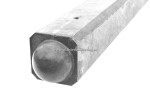 Beton hoekpaal bol wit/grijs 275x10x10cm (tbv 1 onderplaat)